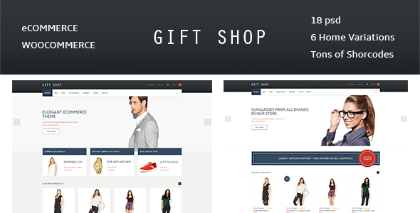 Gift Shop - for eCommerce, WooCommerce - Preview image