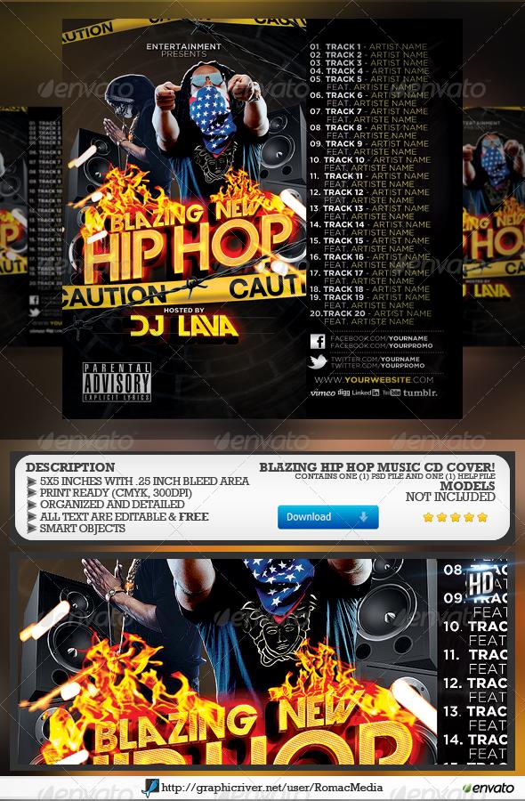 GraphicRiver Blazing New Hip Hop CD Cover 4849249