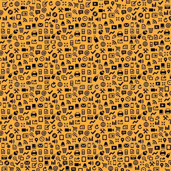 GraphicRiver Seamless Media Icon Background 4937672