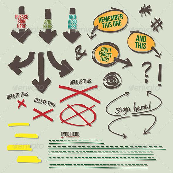 GraphicRiver Sign Document Reminder Design Elements 4937676