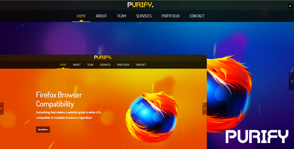 ThemeForest purify One Page Responsive Template 4913916