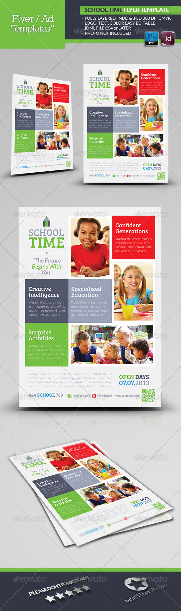 GraphicRiver School Time Flyer Template 4938050