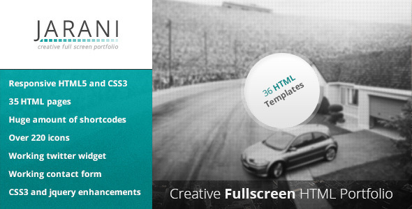 ThemeForest Jarani Creative Full Screen Portfolio HTML 4936781
