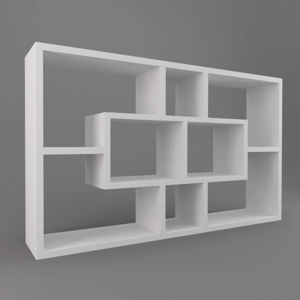 Modern Shelves - 3DOcean Item for Sale