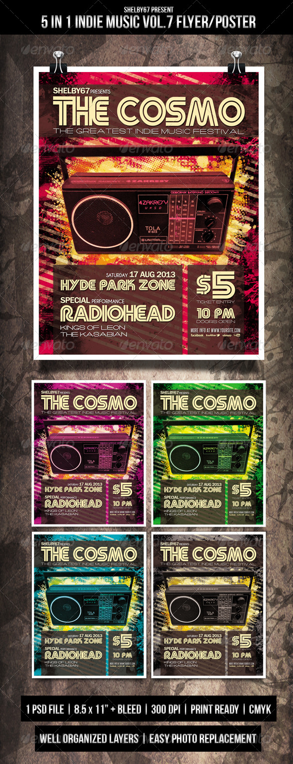 Indie Music Flyer / Poster Vol.7 - Events Flyers