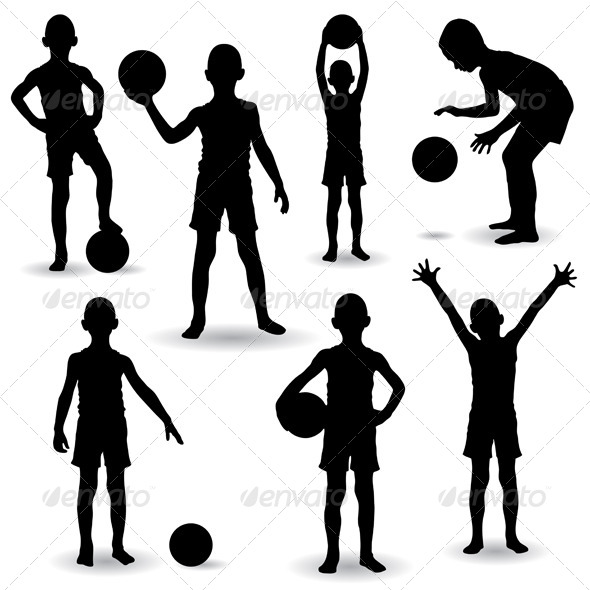 GraphicRiver Boy Silhouettes 4939029