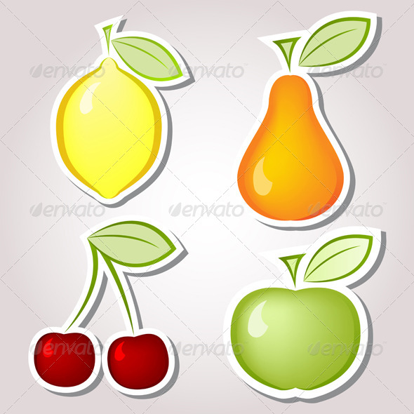 GraphicRiver Fruits Labels 4939080