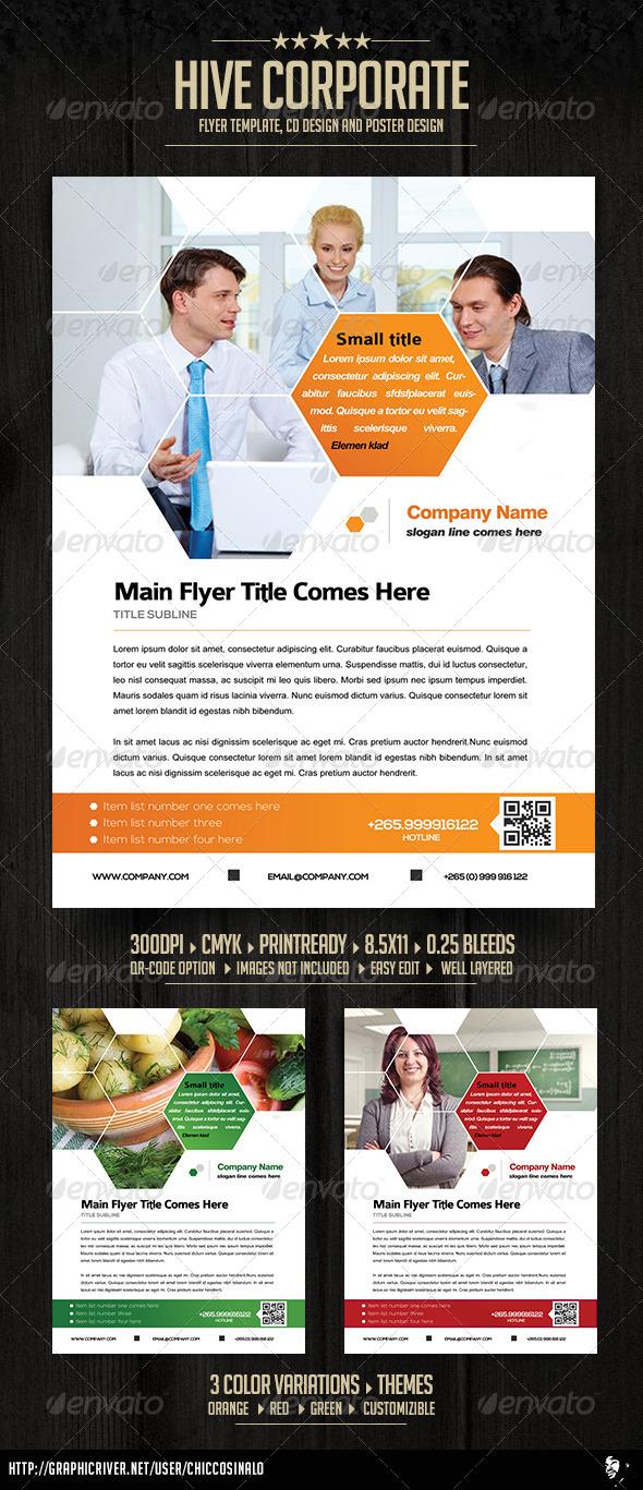 GraphicRiver Hive Corporate Flyer Ad Template 4939135