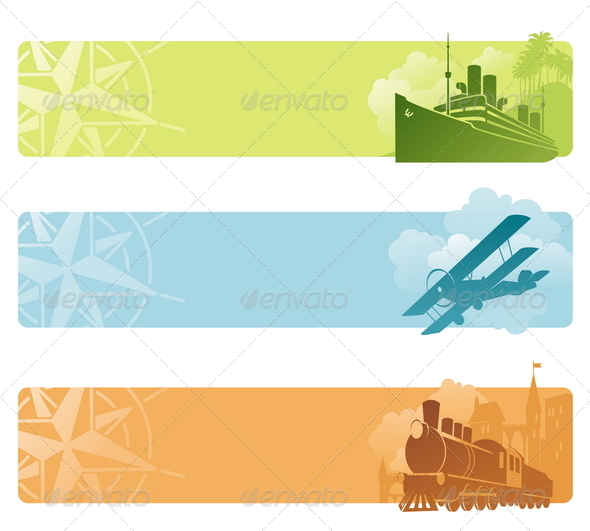 GraphicRiver Vector Banners Retro Transport 4939490