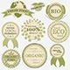 Download Vector Set of Eco Bio Natural Labels, Retro Vintage Style