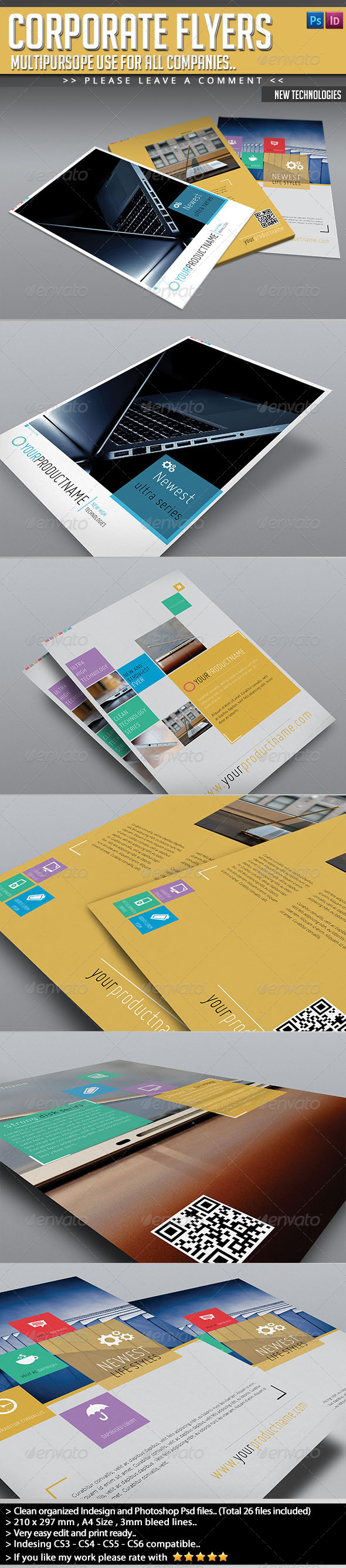 GraphicRiver Corporate Flyer Pack New Technology Flyers 4939596