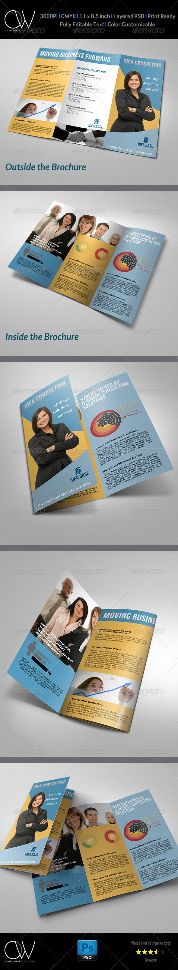 GraphicRiver Corporate Business Tri-Fold Brochure 4939705