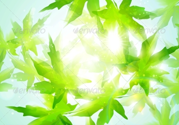 GraphicRiver Leaves Background 4939796