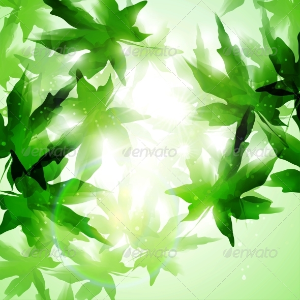 GraphicRiver Leaves Background 4939799