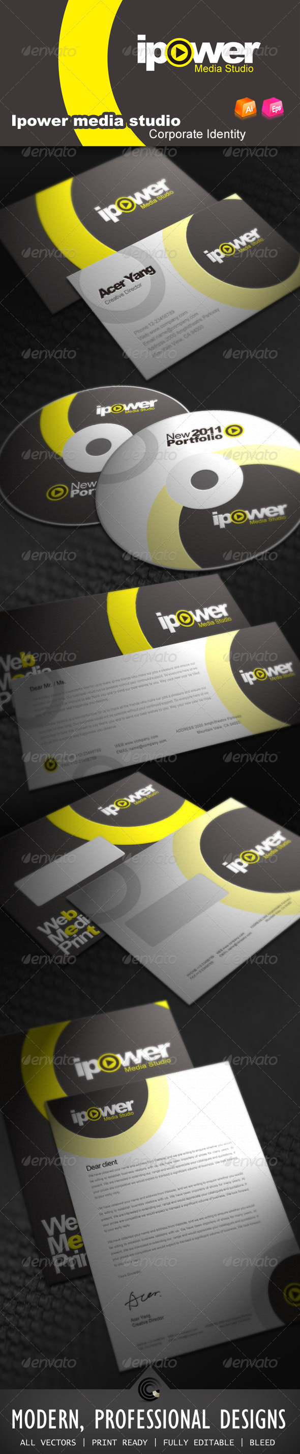 Ipower Midea Studio Corporate Identity