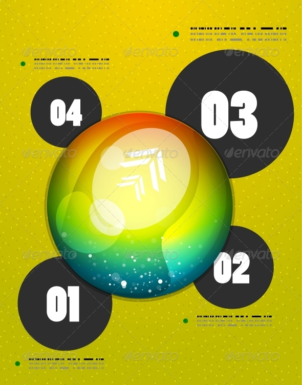 GraphicRiver Abstract Steps Circles Template 4939814