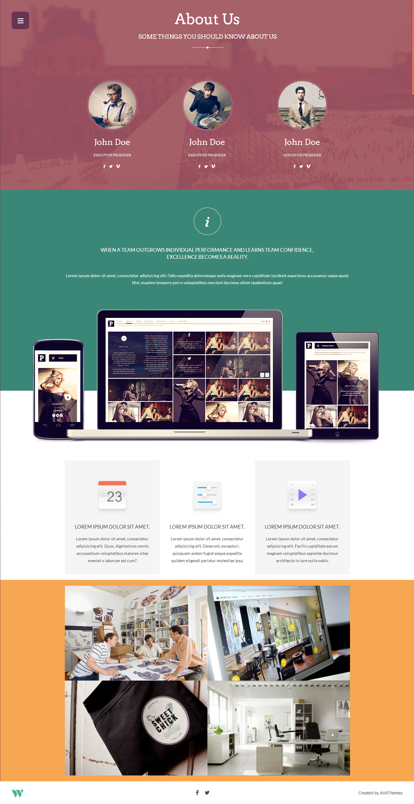 Wilder - Flat One Page Responsive Website Template by AVAThemes ...
