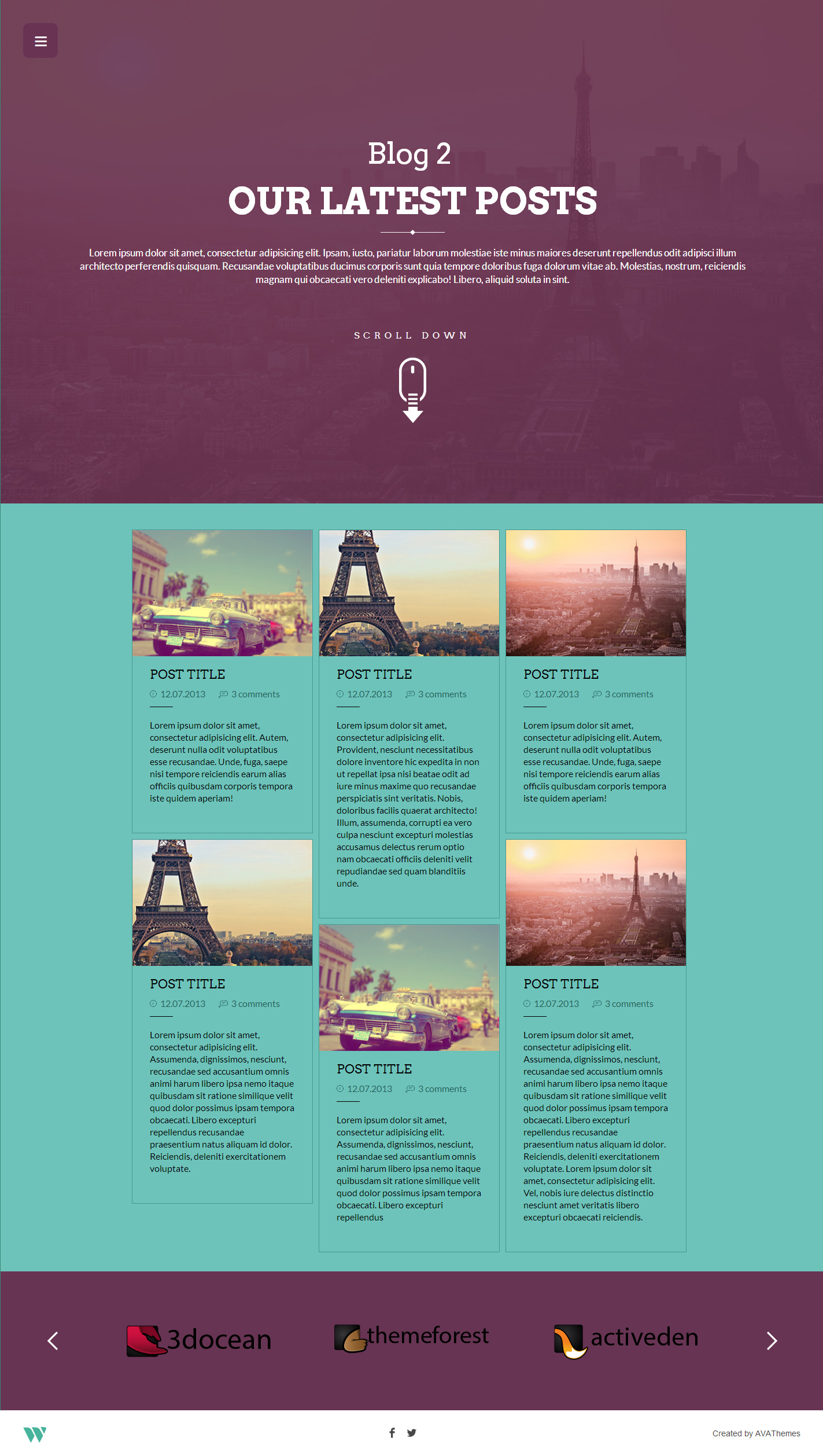 one page brochure template - wilder flat one page responsive website template by