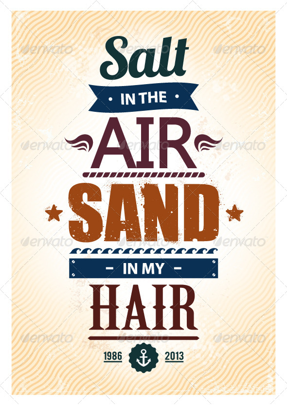 Summer Typography - Vectors