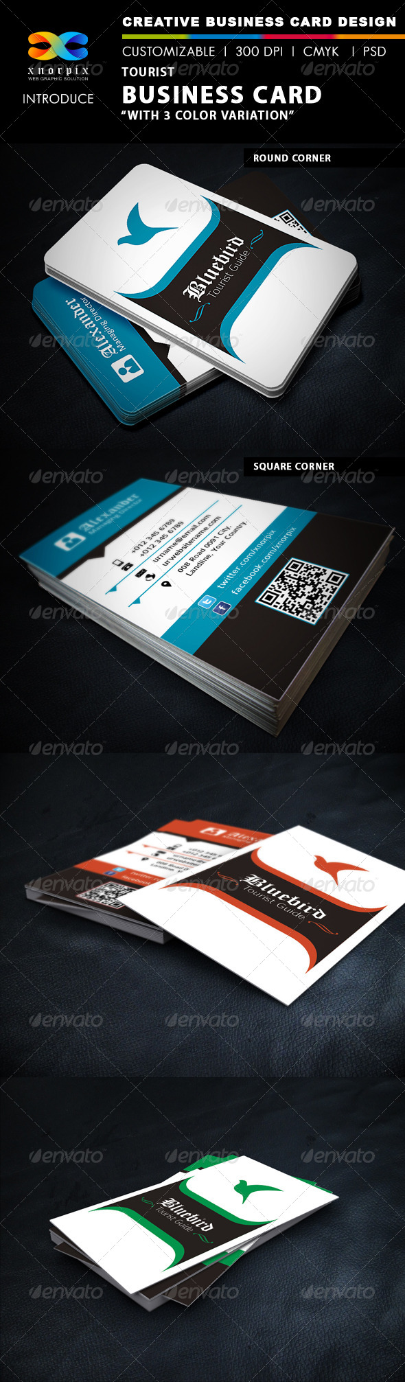 GraphicRiver Tourist Business Card 4940130