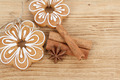 Gingerbread cookies with star anise and cinnamon