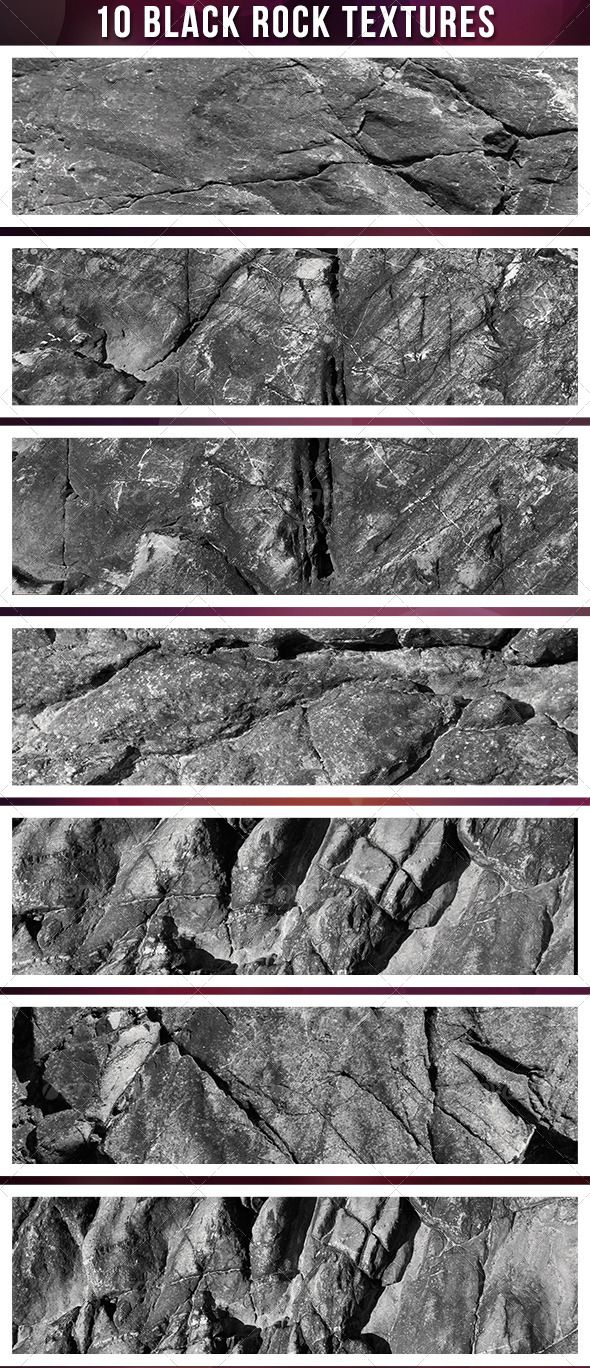 GraphicRiver Ten Dark Stone Textures 4940213