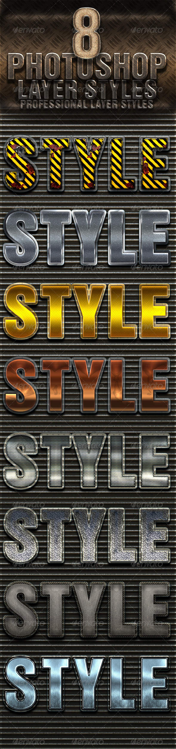 GraphicRiver 8 Photoshop Layer Styles 4940228