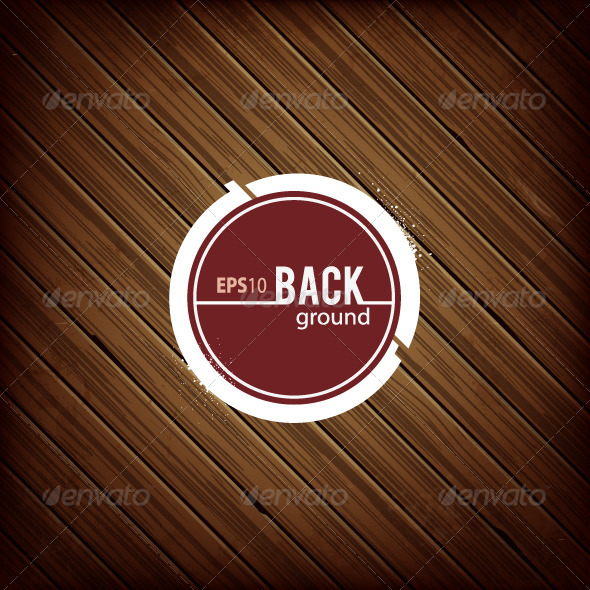 Circle Banner on Dark Wooden Background - Backgrounds Decorative