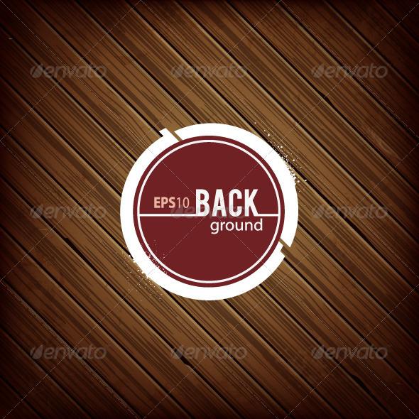 GraphicRiver Circle Banner on Dark Wooden Background 4940263