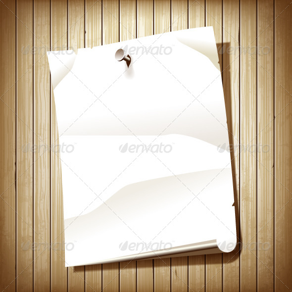 Paper Page on Wood Background - Backgrounds Decorative