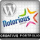 Notorious Creative Portfolio WordPress Theme - ThemeForest Item for Sale