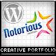 Notorious Creative Portfolio WordPress Theme - ThemeForest Item for Sale