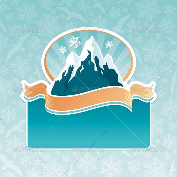 Mountains Landmark Emblem