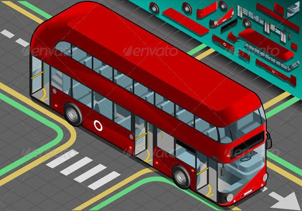 GraphicRiver Isometric Double Decker Bus with Open Doors 4941581