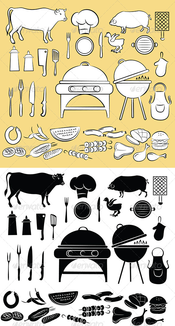 GraphicRiver Barbecue Icon Set 4929981