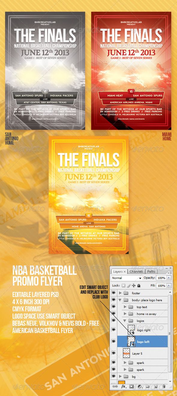 The Finals Basketball Promo Flyer - Sports Events