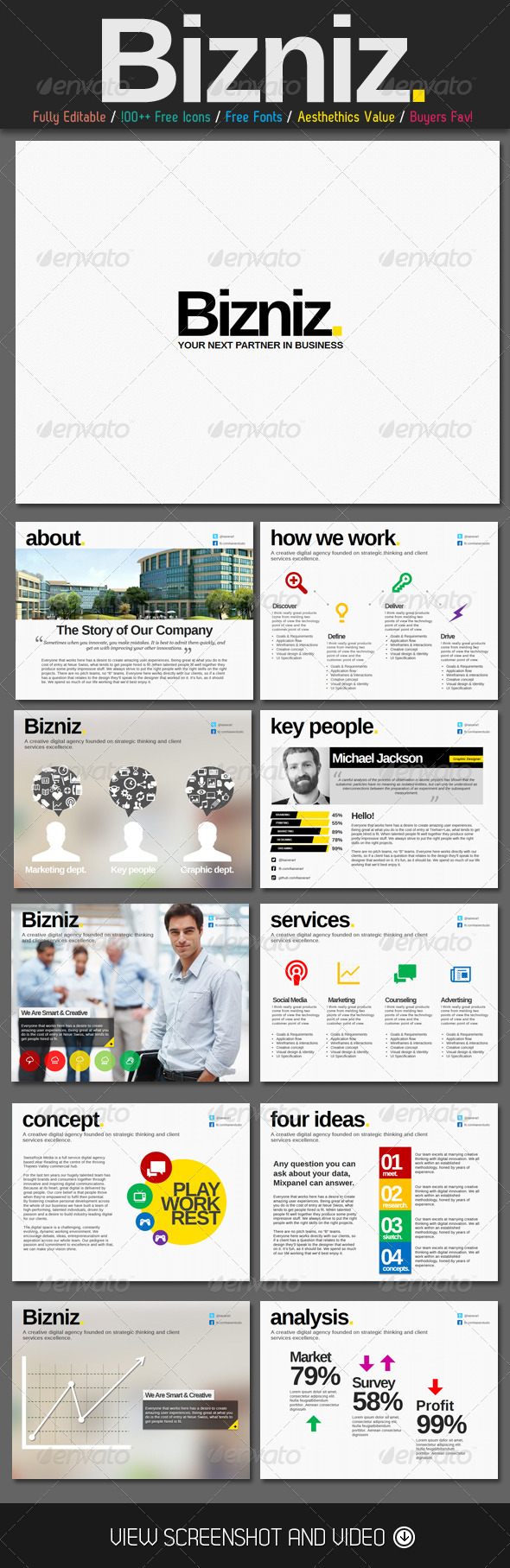 GraphicRiver Clean Biz PowerPoint Presentation 4941854