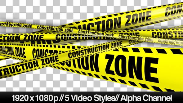 Yellow Construction Zone Boundry Tape 5 Videos