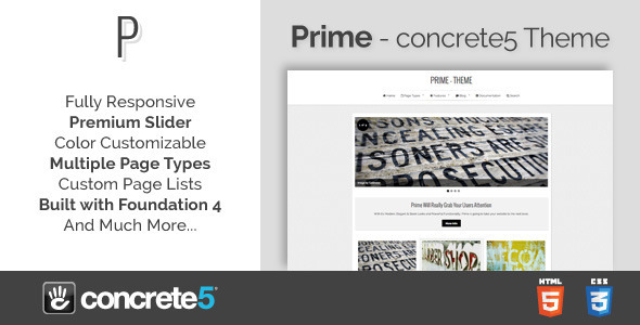 ThemeForest Prime Responsive Multipurpose concrete5 Theme 4906389