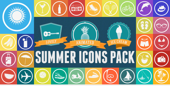 Summer Animated Icons Pack