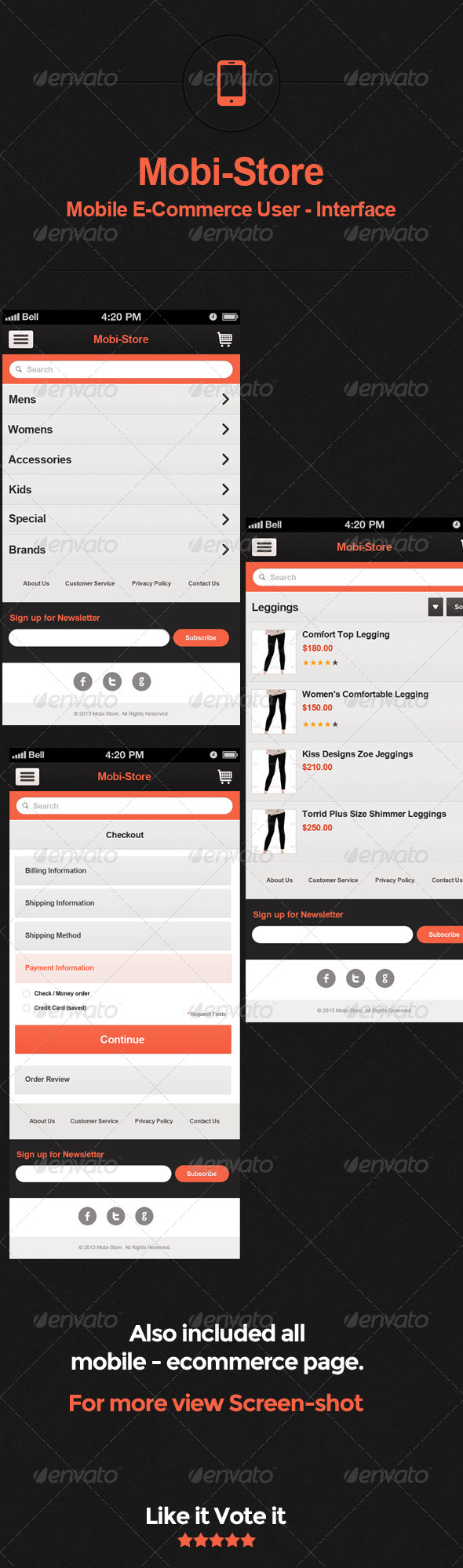 GraphicRiver Mobi-store Mobile E-Commerce User Interface 4926005