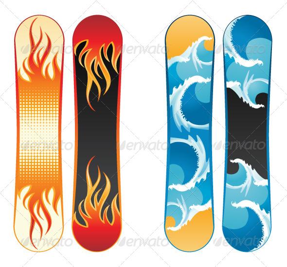 GraphicRiver Snowboards 4942407