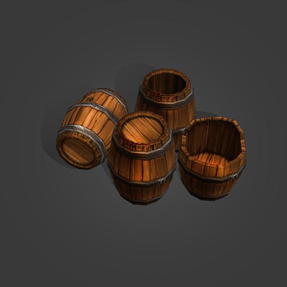 Wine Barrels - 3DOcean Item for Sale