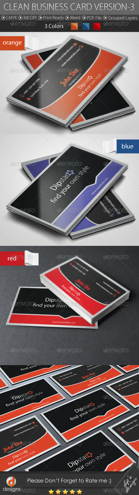 GraphicRiver Corporate Business Card 4658074