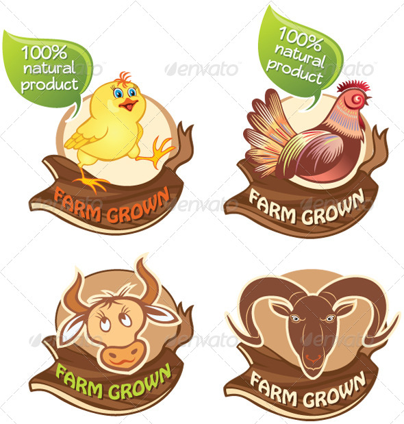 GraphicRiver Farm Animals Banners 4942914