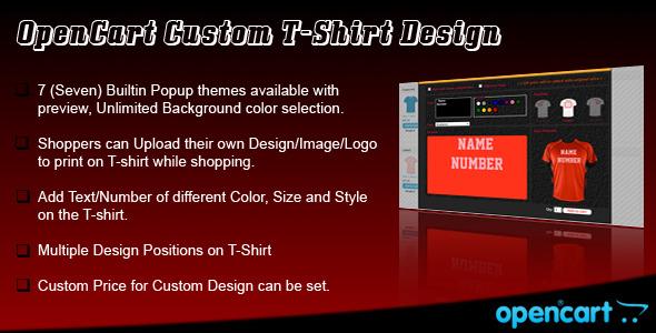 CodeCanyon OpenCart Custom T-Shirt Design 4943029