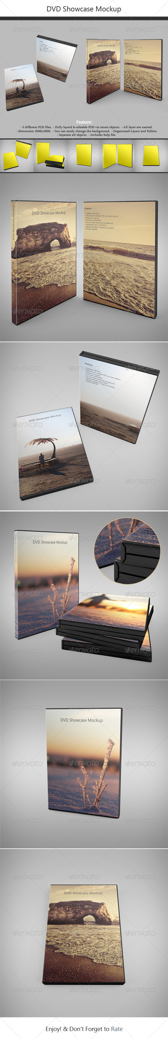 GraphicRiver DVD Showcase Mock-up 4920511
