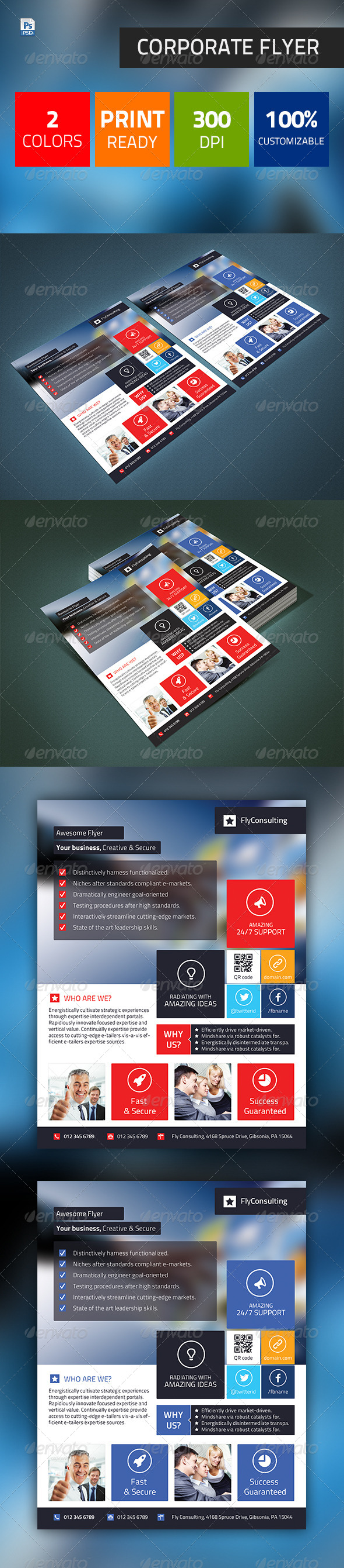 GraphicRiver Corporate Clean Business Flyer 4943856