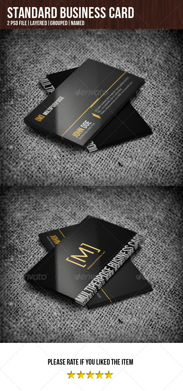 GraphicRiver Standard Business Card 4943859