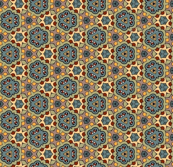 GraphicRiver Ornate Seamless Vector Pattern 4944055